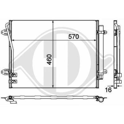 Condenseur, climatisation - Diederichs Germany - 8224801