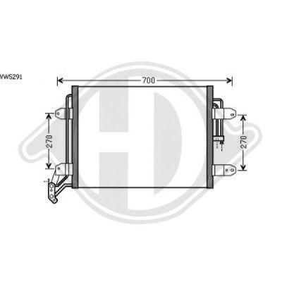 Condenseur, climatisation - Diederichs Germany - 8225500