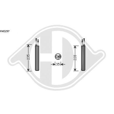 Filtre déshydratant, climatisation - HDK-Germany - 77HDK8225501