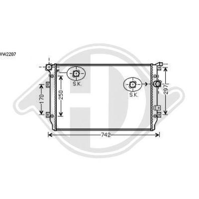 Radiateur, refroidissement du moteur - Diederichs Germany - 8225502
