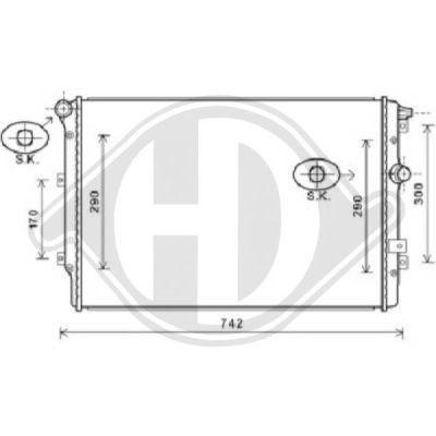 Radiateur, refroidissement du moteur - Diederichs Germany - 8225503