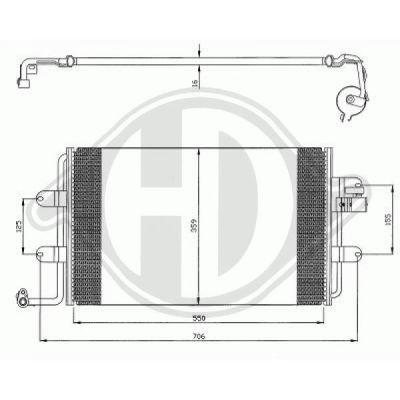 Condenseur, climatisation - Diederichs Germany - 8226500