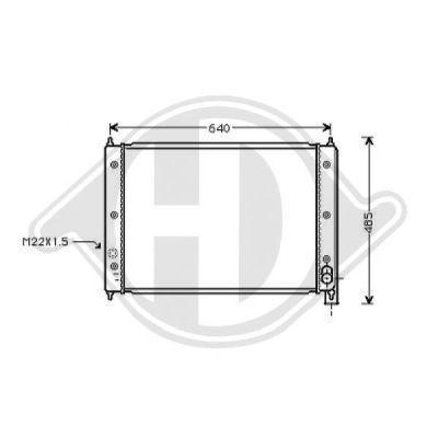 Radiateur, refroidissement du moteur - Diederichs Germany - 8226905