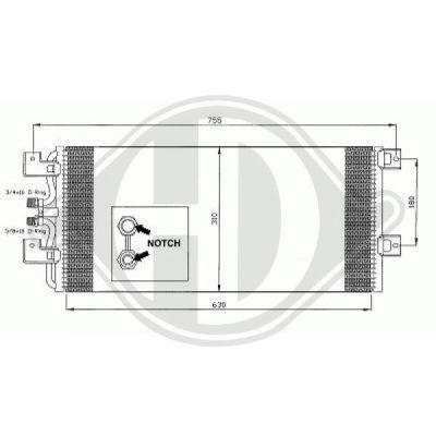 Condenseur, climatisation - Diederichs Germany - 8227000
