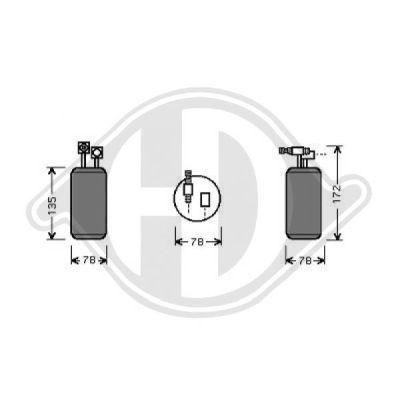 Filtre déshydratant, climatisation - Diederichs Germany - 8227002