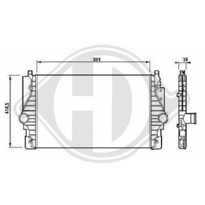Intercooler, échangeur - Diederichs Germany - 8227009