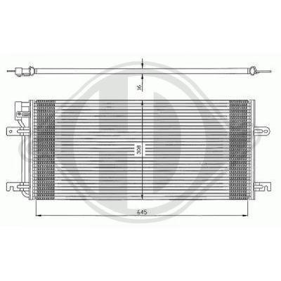 Condenseur, climatisation - Diederichs Germany - 8227100