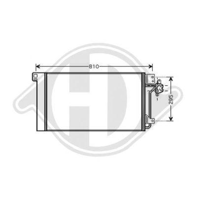 Condenseur, climatisation - Diederichs Germany - 8227200