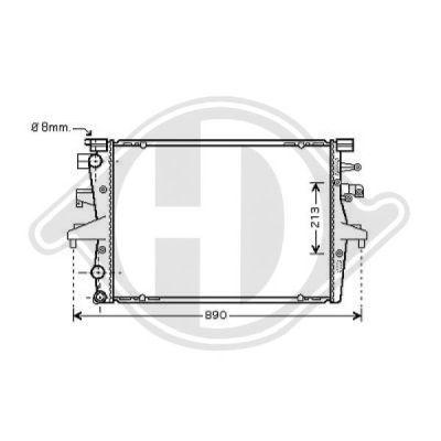 Radiateur, refroidissement du moteur - Diederichs Germany - 8227202