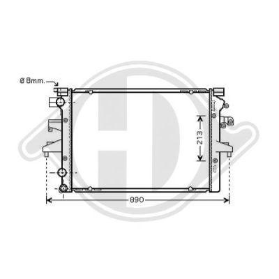 Radiateur, refroidissement du moteur - Diederichs Germany - 8227203