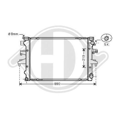 Radiateur, refroidissement du moteur - HDK-Germany - 77HDK8227204