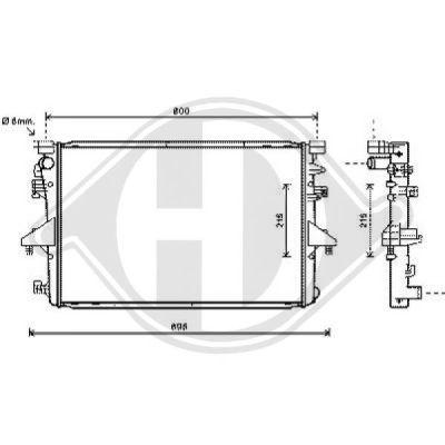 Radiateur, refroidissement du moteur - Diederichs Germany - 8227205