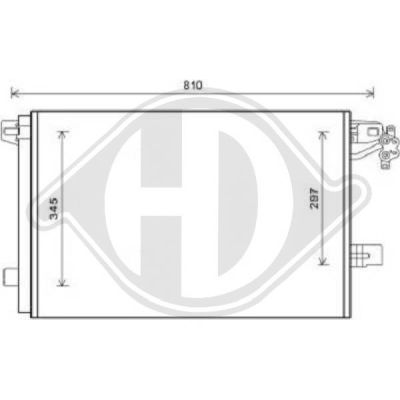 Condenseur, climatisation - Diederichs Germany - 8227300