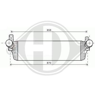 Intercooler, échangeur - Diederichs Germany - 8227302