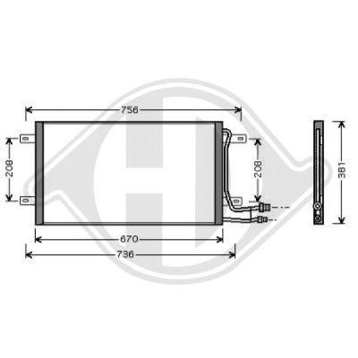 Condenseur, climatisation - Diederichs Germany - 8228000