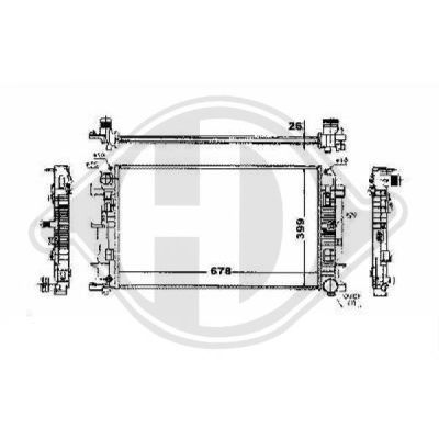 Radiateur, refroidissement du moteur - Diederichs Germany - 8228103