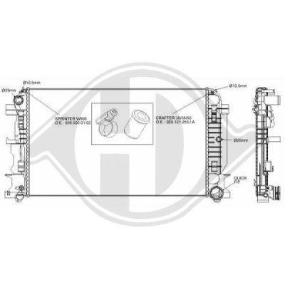 Radiateur, refroidissement du moteur - Diederichs Germany - 8228104