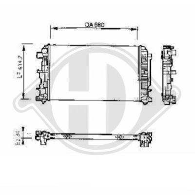 Radiateur, refroidissement du moteur - Diederichs Germany - 8228105