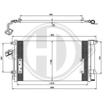Condenseur, climatisation - Diederichs Germany - 8228500