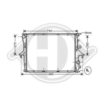 Radiateur, refroidissement du moteur - Diederichs Germany - 8228504