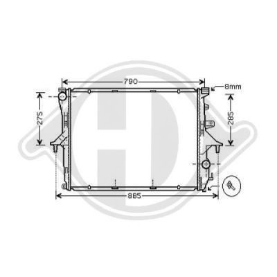 Radiateur, refroidissement du moteur - HDK-Germany - 77HDK8228504