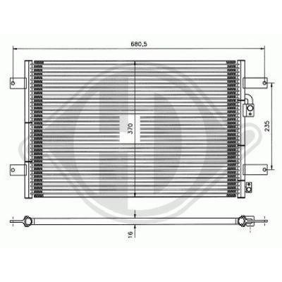 Condenseur, climatisation - Diederichs Germany - 8229000