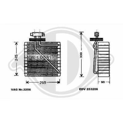 Evaporateur climatisation - Diederichs Germany - 8229001