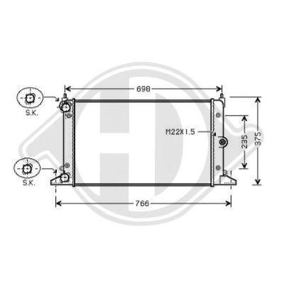 Radiateur, refroidissement du moteur - Diederichs Germany - 8229010