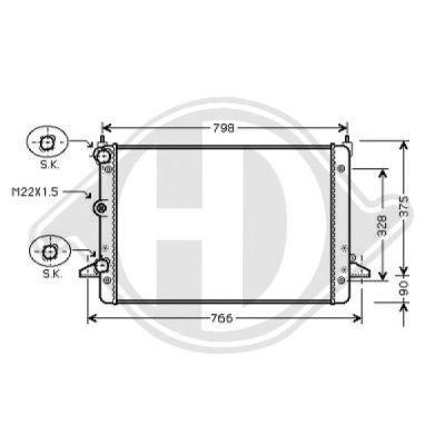 Radiateur, refroidissement du moteur - Diederichs Germany - 8229011