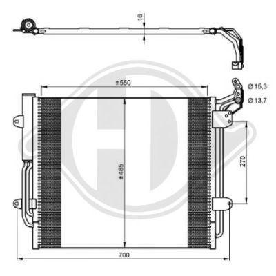 Condenseur, climatisation - Diederichs Germany - 8229100
