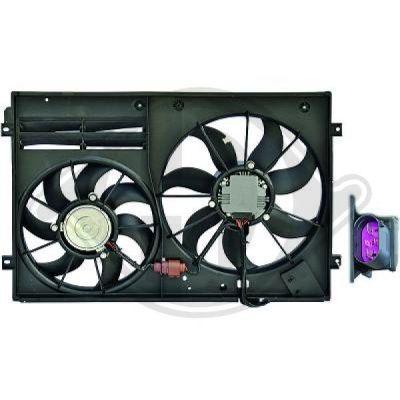 Ventilateur, refroidissement du moteur - Diederichs Germany - 8229502