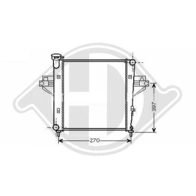 Radiateur, refroidissement du moteur - Diederichs Germany - 8260000