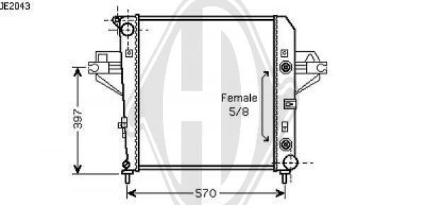 Radiateur, refroidissement du moteur - HDK-Germany - 77HDK8260001