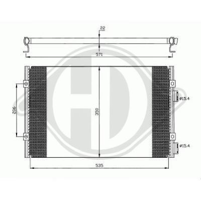 Condenseur, climatisation - HDK-Germany - 77HDK8260500