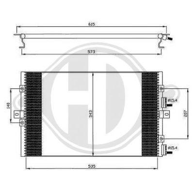 Condenseur, climatisation - Diederichs Germany - 8260501
