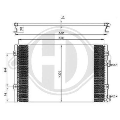 Condenseur, climatisation - Diederichs Germany - 8260502
