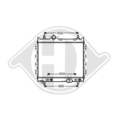 Radiateur, refroidissement du moteur - HDK-Germany - 77HDK8260505
