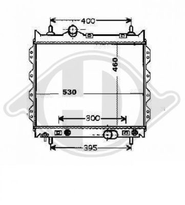 Radiateur, refroidissement du moteur - Diederichs Germany - 8260506