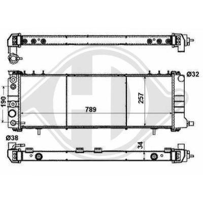 Radiateur, refroidissement du moteur - Diederichs Germany - 8261003