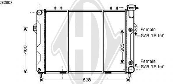 Radiateur, refroidissement du moteur - Diederichs Germany - 8261009