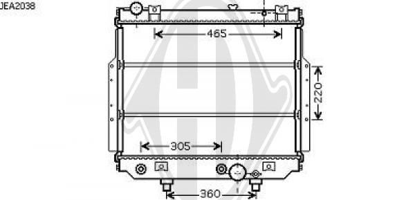 Radiateur, refroidissement du moteur - Diederichs Germany - 8261010