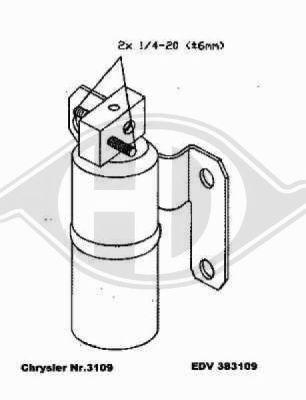 Filtre déshydratant, climatisation - HDK-Germany - 77HDK8261011