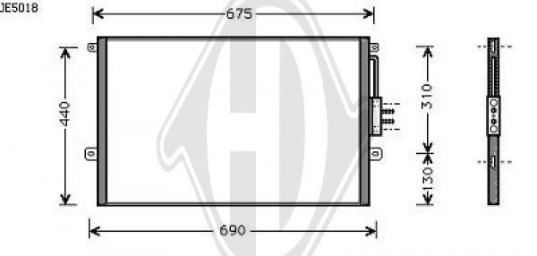 Condenseur, climatisation - HDK-Germany - 77HDK8261015