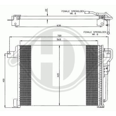 Condenseur, climatisation - Diederichs Germany - 8261100