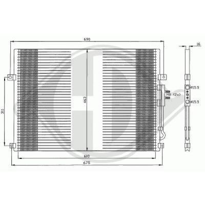 Condenseur, climatisation - Diederichs Germany - 8261200