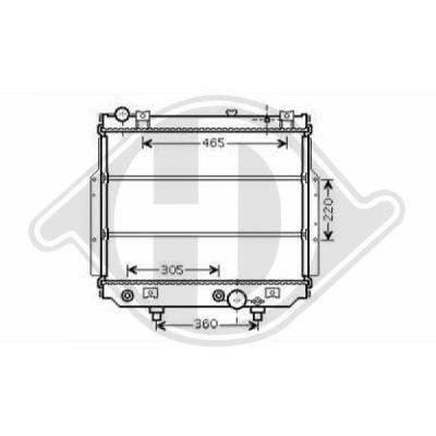 Radiateur, refroidissement du moteur - HDK-Germany - 77HDK8261201