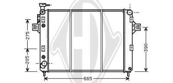Condenseur, climatisation - HDK-Germany - 77HDK8261202