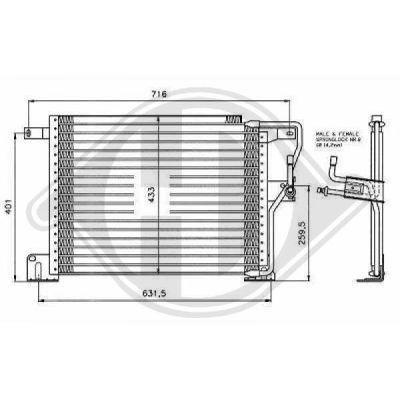 Condenseur, climatisation - Diederichs Germany - 8261204