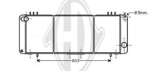 Radiateur, refroidissement du moteur - Diederichs Germany - 8261205