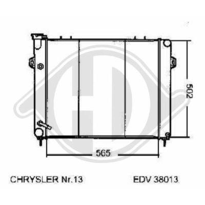Radiateur, refroidissement du moteur - Diederichs Germany - 8261206